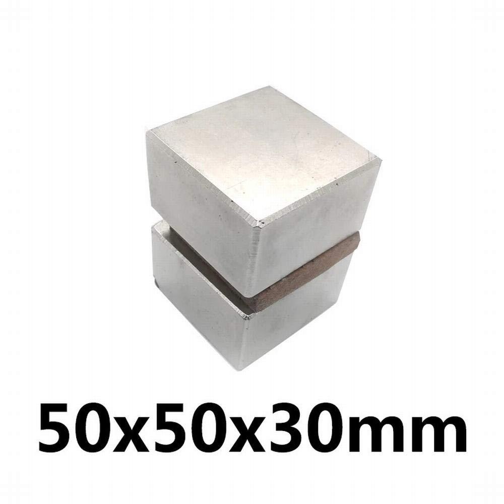 Silver - 1pcs Super Strong 50 x 50 x 30 mm Block Bar Magnets Rare Earth Neodymium N35 Permanent Magnet 50x50x30Square Magnet 50x50x30mm