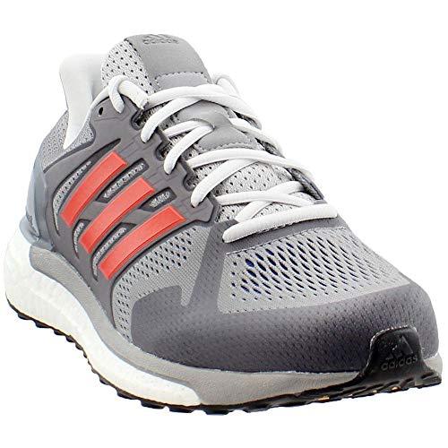 adidas Performance Men's Supernova ST Aktiv Running Shoe, Grey One/Hi-Res Red/Collegiate Royal, 9 M US