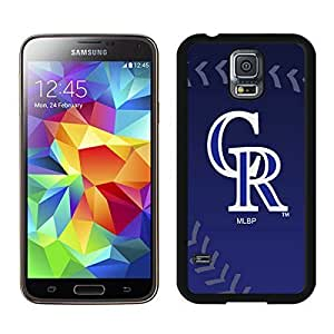 Special Custom Samsung Galaxy S5 Case Colorado Rockies Black Personalized Picture Samsung Galaxy S5 i9600 Phone Case