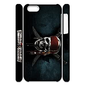 GTROCG Pirates of the Caribbean Phone 3D Case For Iphone 5C [Pattern-4]