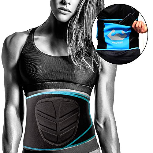 Waist Trimmer by BTF - Waist Trainer Weight Loss for men and women good for running and gym extreme workout have a sweet sweat abs by using this fitness belt the best sport exercise Unisex