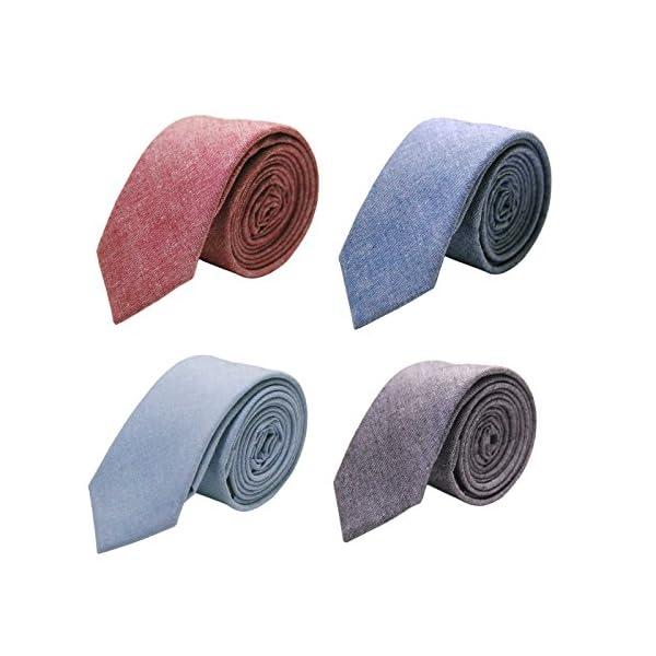 Jnjstella-Cotton-Solid-Skinny-Mens-Necktie-2-Tie