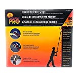 Dyno Seasonal Solutions 50 CT Rapid Release No Ladder PRO Gutter/Shingle/Eaves Combo Clips (Case of 7 Boxes)-Total 350 Clips