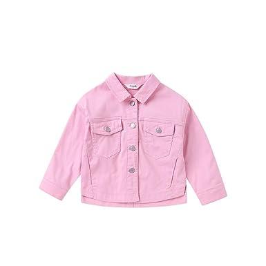 quality design 2493c b404f Annil Giacca di Jeans per Ragazze Rosa Giubbotto per Ragazza ...