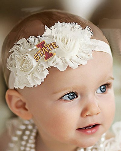 """Future Tailgater Iowa State Cyclones Baby/Toddler Shabby Flower Hair Bow Headband (6-12 Months/ 14"""")"""
