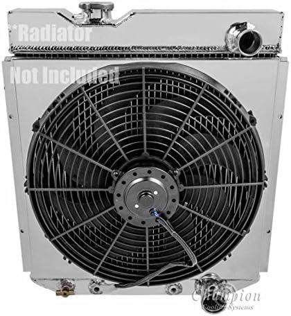 """ALUMINUM RADIATOR FAN SHROUD W// 16/"""" FAN FITS CHAMPION CC259 CC251 MC259 MC251"""