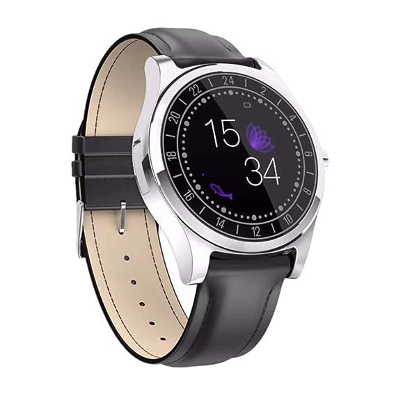 DT19 Bluetooth Reloj Inteligente para Hombre Ritmo cardiaco Deporte presión sanguínea Sport Tracker Smartwatch: Amazon.es: Relojes