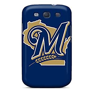 Anti-scratch And Shatterproof Baseball Milwaukee Brewers 1 Phone Case For Galaxy S3/ High Quality Tpu Case