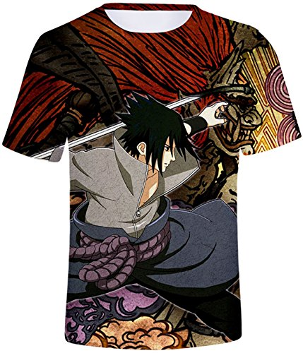 Ninjia shirt 456 Naruto Unisexe Seraphy Uchiha Mode Top Hatake Hokage Syaringan D'été Uzumaki T Kakashi Shirt qPSxa