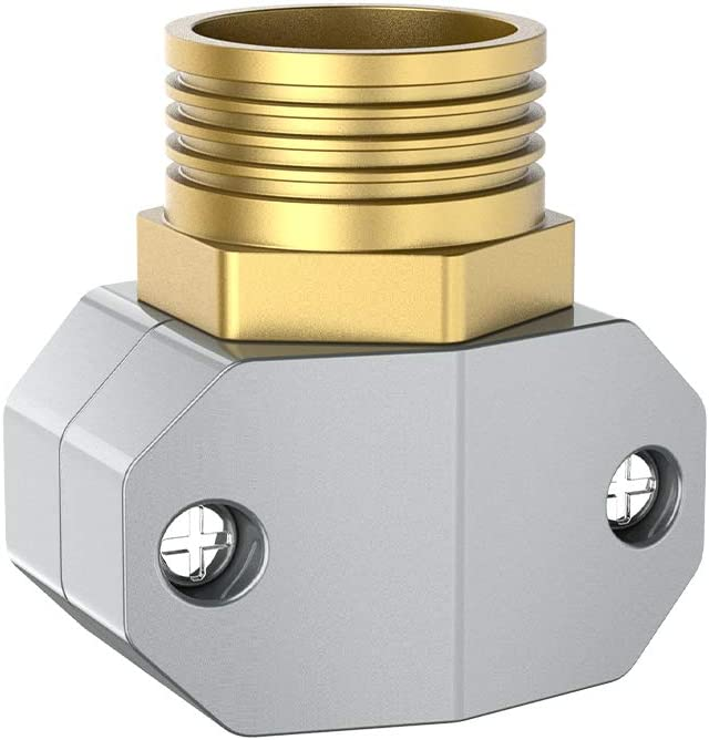 """VLAY Garden Hose Repair Fittings,Male Hose Connector,Aluminum Coupling and Shank,Suitable for All 5/8"""" and 3/4"""" Garden Hose"""