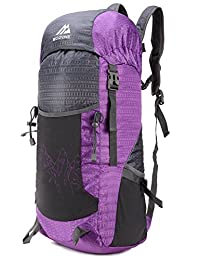 Mozone Large 40l Lightweight Water Resistant Travel Backpack/foldable & Packable Hiking Daypack Purple