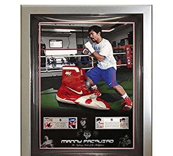 Signed by & Worn by Signed Manny Pacquiao Nike Boxing Botas 9225c1