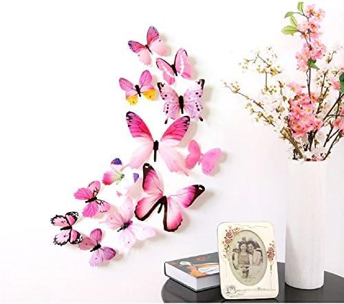 18pcs DIY 3D Butterfly Wall Stickers Art Decal PVC Butterflies Home Decor 、NDD