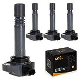 QYL Pack of 4 Ignition Coil for 2006-2011 Honda Civic 1.8L I4 UF-582 C1580 5C1637 E1082 UF582