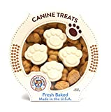Claudia's Canine Bakery Peanut Butter Cookies and Yogurt Paw Prints Gourmet Dog Treats by