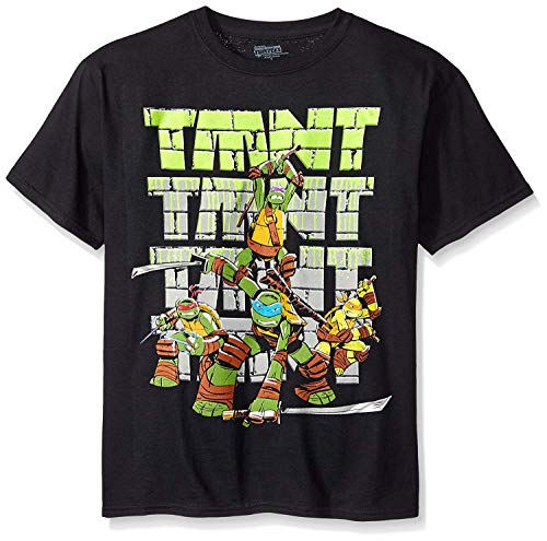 - Teenage Mutant Ninja Turtles Big Boys' T-Shirt Shirt, Black TMNT, Large-14/16