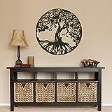 """Nature Arbre Decor Sticker mural Motif arbre de vie celtique antique mur graphique en vinyle, Vinyle, marron foncé, 36""""h x36""""w"""