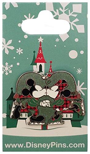Kiss Disney (Disney Pin - Mistletoe Kiss Mickey and Minnie Ice Skating)