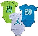 Nike Air Jordan Baby Boys' 3 pack short sleeve bodysuits (3/6 Months)