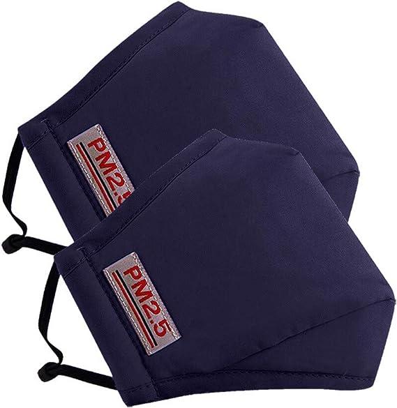 Image ofLazzgirl Reutilizable y Lavable con Carbón Activado Filtro Antipolvo Antivaho Actividades al aire libre Pack 2 unidades