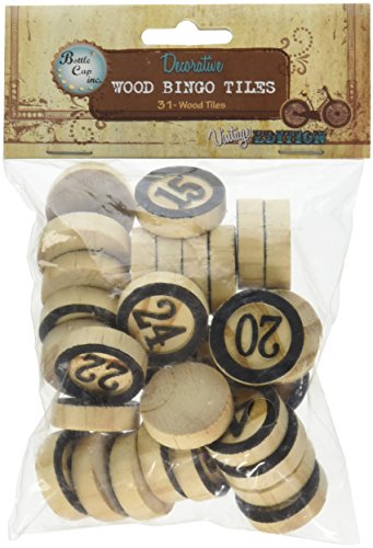 Vintage Collection Bottle Cap Bingo Chips 30/Pkg-Black