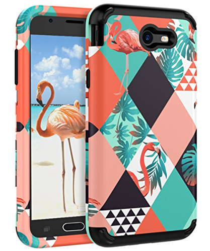 XIQI Samsung Galaxy J7 2017 Case,Galaxy J7 Prime Case,J7 2017(AT&T), J7 Sky Pro, J7 Perx case Three Layer Heavy Duty Shockproof Cute Girls Woman Anti-Scratch Protective Case