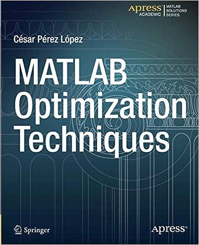 Amazon com: MATLAB Optimization Techniques (9781484202937): Cesar