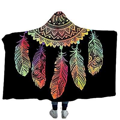Grace 3D Print Hooded Blanket Super Soft Sherpa Fleece Blanket Comfortable Wearable Throw Witchcraft Cloak Star Pattern