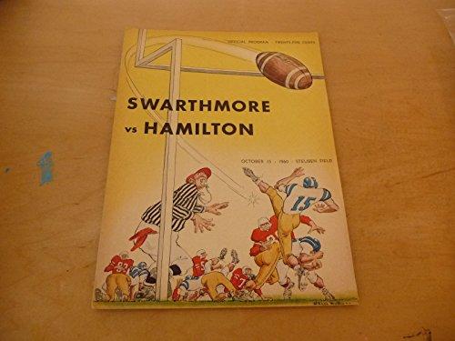 1960 SWARTHMORE (PA) AT HAMILTON (NY) COLLEGE FOOTBALL PROGRAM - At Shops Hamilton