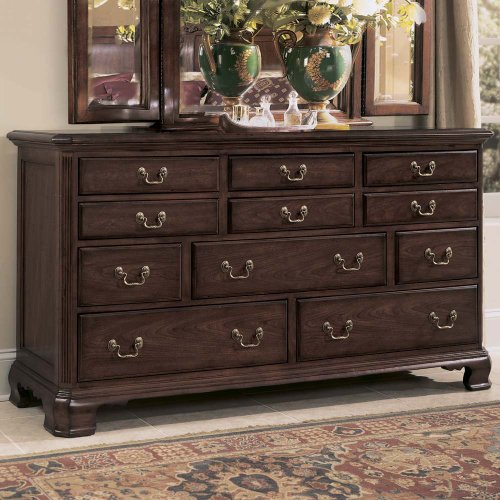 American Drew Cherry Grove 11 Drawers Triple Dresser in Cherry Finish - American Drew Drawer Dresser