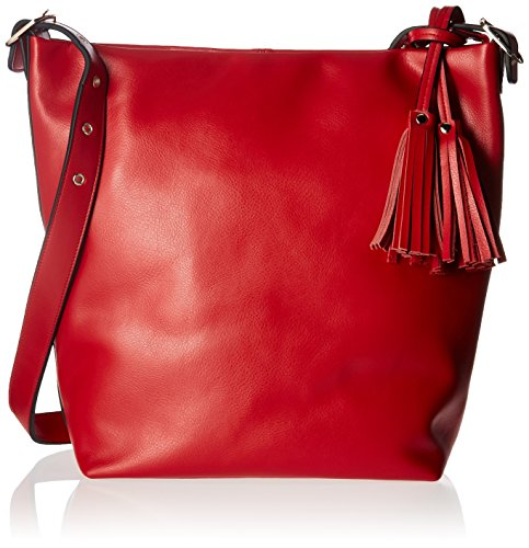 Donna Bella Designs Olivia Leather Shoulder Bag, Red by Donna Bella Designs