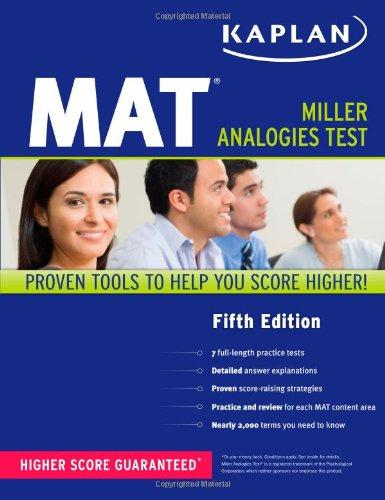 Pdf Test Preparation Kaplan MAT (Kaplan Test Prep)
