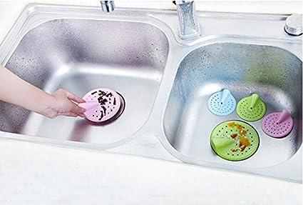 JUNGEN 1 PCS Lavabo Entonnoir en Silicone pour Cuisine /évier Filtre /égout Drain Cheveux Passoires Rose