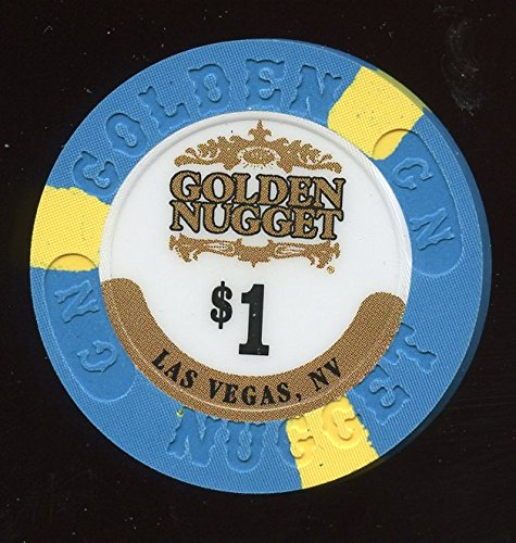 Golden Nugget Casino Chips ($1 Golden Nugget Las Vegas Nevada Casino Chip Uncirculated Collectors Chip Real Live chip Obsolete Last Issue)