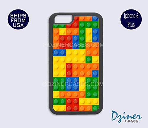 iPhone 6 Plus Case - Lego Blocks Prints iPhone Cover (NOT REAL BLOCKS)