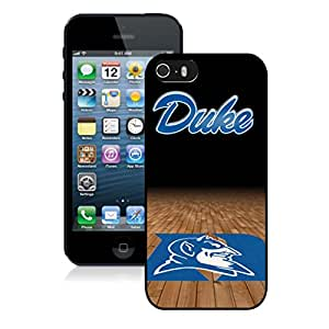 Beautiful Custom Designed Cover Case For iPhone 5S With Duke Blue Devils (2) iPhone 5s Black Phone Case 136