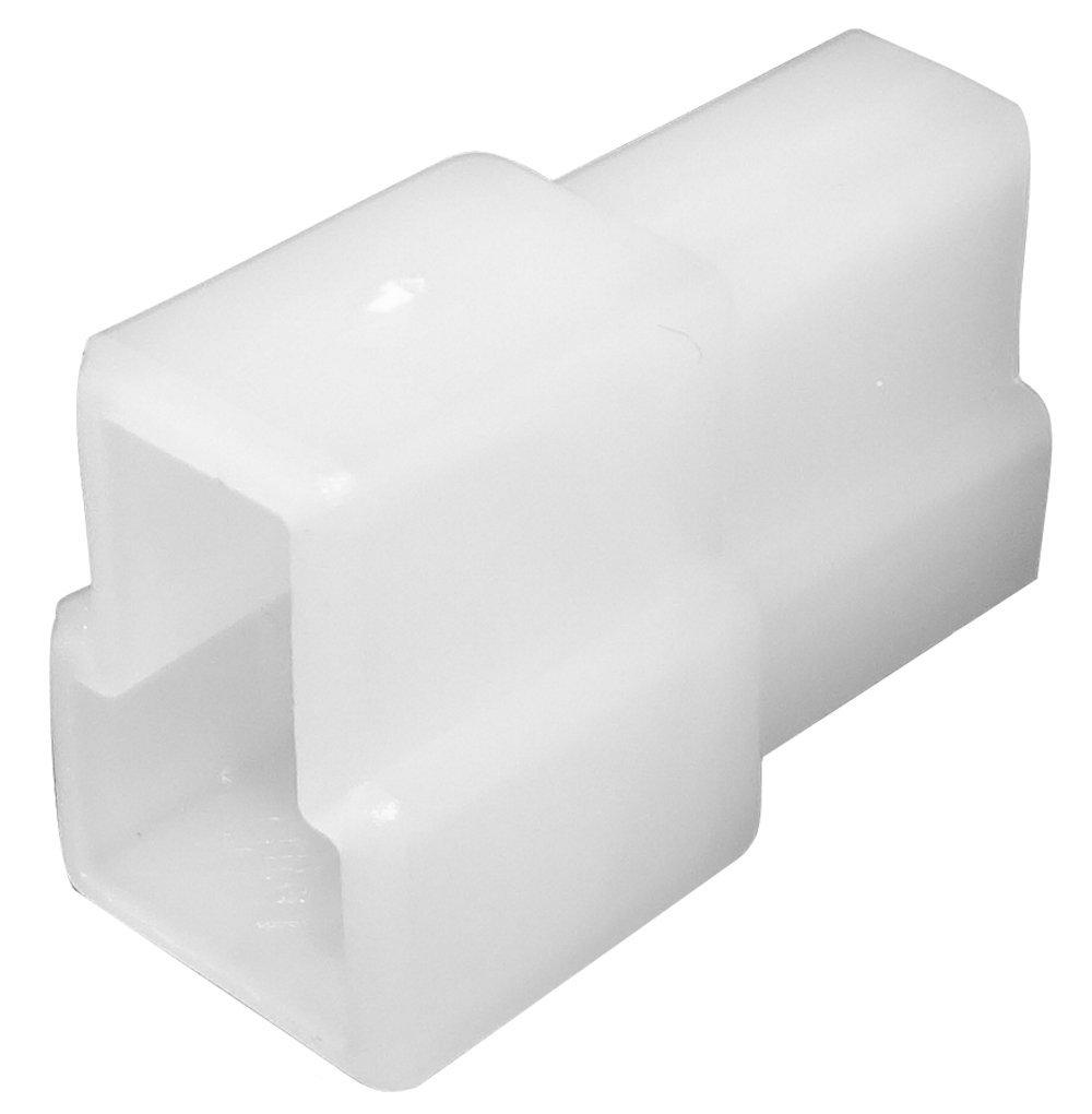 Aerzetix: 100 x Caja para conector de carga de 2 Ví as para terminales elé ctricos 6,3 mm, macho SK2-C11668-R608