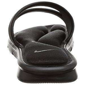 NIKE Women's Ultra Comfort Slide Sandal, Black/White/Black, 5 B(M) US