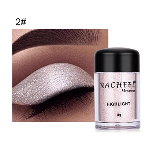 Esharing Women Girls Beauty Cosmetics Eye Shadow Makeup Glitter Eyeshadow Powder,6 Colors Optional (Style B)