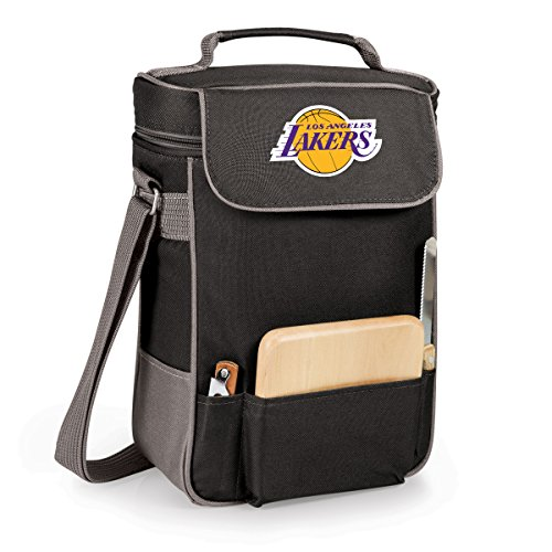 NBA Los Angeles Lakers Duet Insulated 2-Bottle Wine and Cheese Tote (Wine Gift Baskets Los Angeles)
