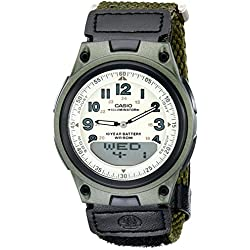 Casio Men's AW80V-3BV World Time Ana-Digi Data Bank 10-Year-Battery Watch