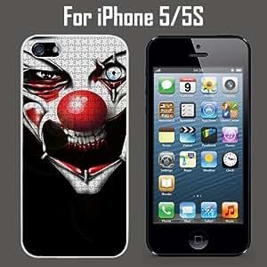 Evil Clown Puzzle Custom Case/ Cover/Skin *NEW* Case for Apple iPhone 5/5S - White - Rubber Case (Ships from CA) Custom Protective Case , Design Case-ATT Verizon T-mobile Sprint ,Friendly Packaging - Slim Case