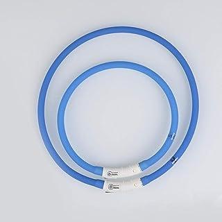 Dailyinshop Collare Regolabile per Esterni LED USB Ricaricabile Teddy Notte Lampeggiante Forniture ardore Luminosa di Sicurezza