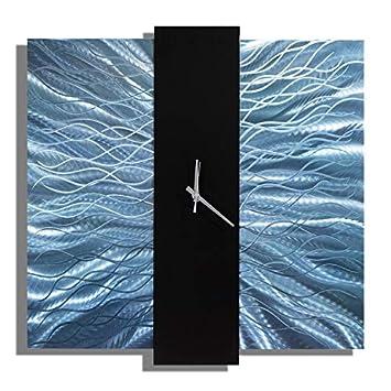 Jon Allen Metal Art Large 24 Inch Decorative Wall Clock, Modern Metal Wall Art, Harmonious Mechanism