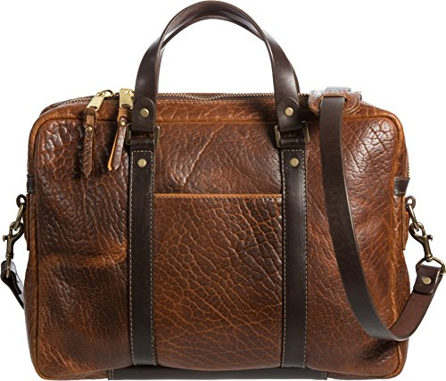 American Bison Leather Briefcase with Concealed Carry Pocket