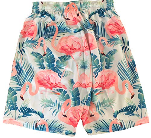 (Tropical Flamingo Lacrosse Shorts, Knee Length with Deep Pockets, Adult)