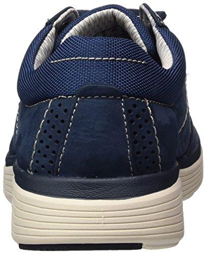 Azul Nubuck Lace Derby Clarks Navy Hombre de Zapatos Abode Un para Cordones 7faqOT