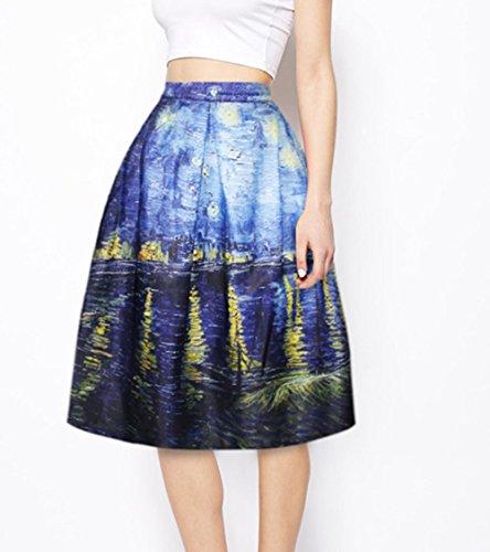 10 Jupe de Line Court YICHUN Mini Jupe A Femme Robe Impression Jupe Shorts Plage Jupon Skirt de Soire Plisse A5H8wUx8q