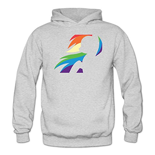 Tommery Women's My little pony Hasbro Rainbow Dash Costume Logo Long Sleeve Sweatshirts (Pat Benatar Costume)