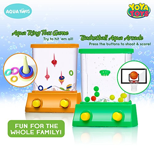 Handheld Water Game By yoYa Toys Fish Ring Basketball Aqua Arcade